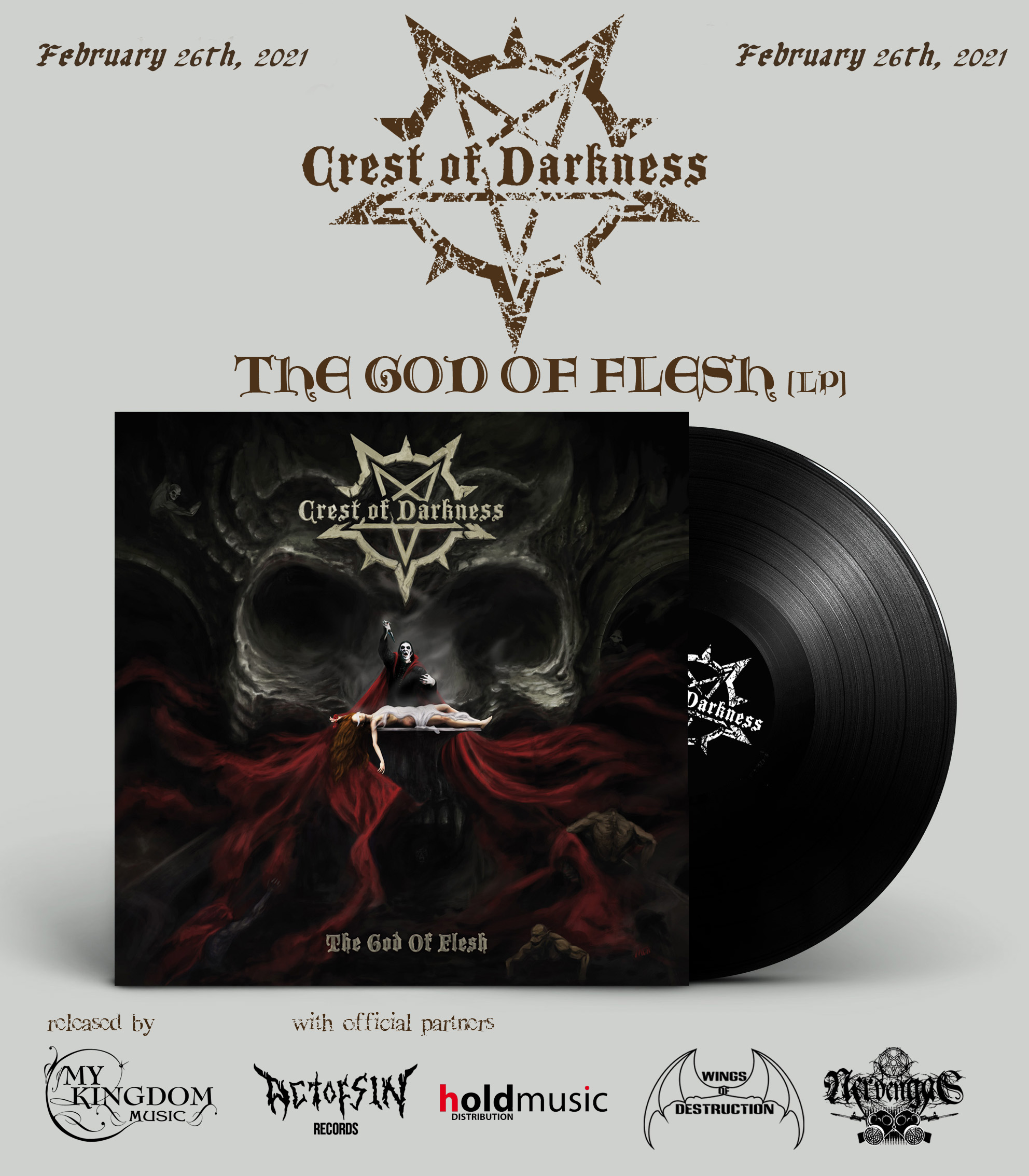Crest Of Darkness cover LP